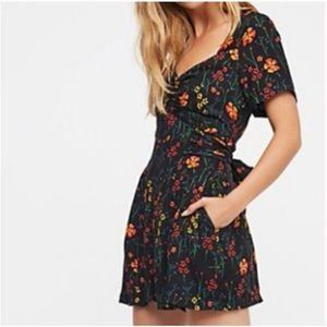Free People 'Bet You Do' Floral Romper Sz 0